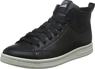 Skechers STREET Damen Sneaker Side Street Smooth Over Schwarz, Schuhgröße:EUR 36