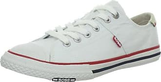 Skechers Danza 22116 WSL - Zapatillas fashion de cuero para mujer, color blanco, talla 35