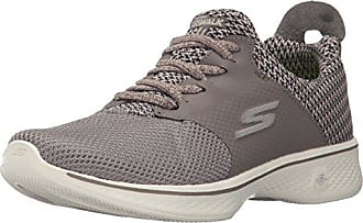 Skechers Go Walk 4-Sustain, Formateurs Femme, Noir (Black/Grey), 38 EU
