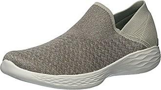 Skechers Damen Go Walk Lite-Smitten Slip on Sneaker, Beige (Taupe), 37 EU