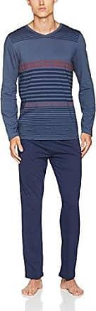 Moments Sleep Pyjama Lang, Conjuntos de Pijama para Hombre, Multicolor (Darknavy Stripe 1015), M Skiny