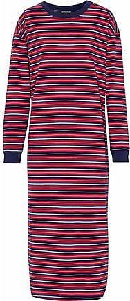 Sleepy Jones Woman Striped Cotton-jersey Nightdress Navy Size XS Sleepy Jones Fast Delivery P5xX1