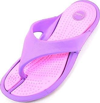 SNUGRUGS Damen/Damen Leichtes Gummi Sommer/Strand/Urlaub Flip Flops/Sandalen, Pink - Rose - Größe: 38