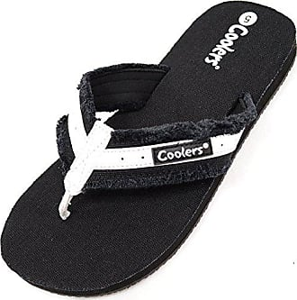 SNUGRUGS Damen/Damen Sommer/Urlaub/Strand Flip Flops/Sandalen, Schwarz - schwarz - Größe: 42