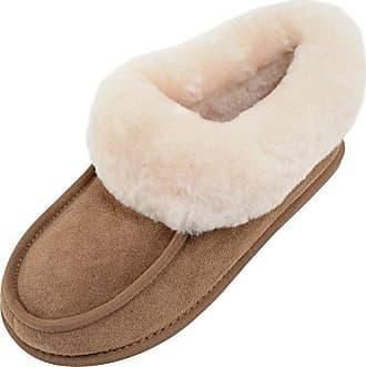 SNUGRUGS Slouch Sheepskin, Zapatillas de Estar por Casa para Mujer, Blanco (Natural), 40 2/3 EU