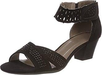 28360, Sandalias con Tira Vertical para Mujer, Negro (Black), 40 EU Soft Line