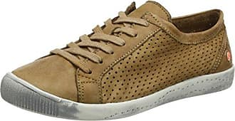 Softinos ICA388SOF Smooth/Suede, Zapatillas para Mujer, Blau (Navy/Dk.Grey), 42 EU