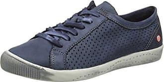 Softinos ICA388SOF Smooth/Suede, Baskets Femme, Schwarz (Black/DK.Grey), 39 EU