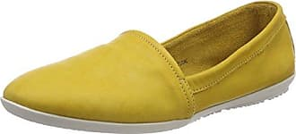 Softinos OLU382SOF Washed, Ballerines Bout Fermé Femme, Jaune (Yellow 005), 35 EU