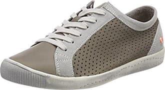 Softinos ICA388SOF Smooth/Suede, Zapatillas para Mujer, Weiß (White/Mustard), 41 EU