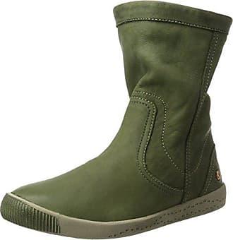 Hotter Whisper, Botas Efecto Arrugado Mujer, Verde (Loden Green), 36