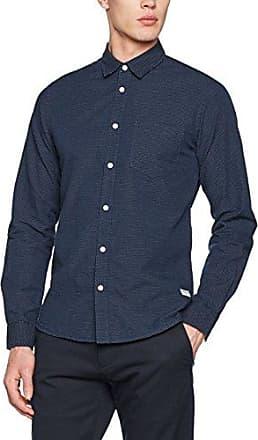 Shirt - Hanif - Camisa Casual para Hombre, Talla L Insignia b Solid