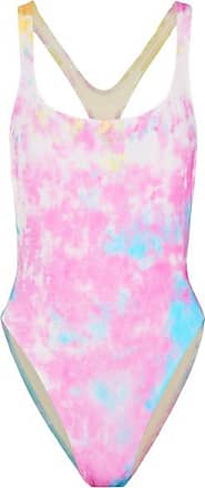 + Re/done The Venice Badeanzug Mit Batikprint Und Cut-out - Pastellrosa Solid & Striped