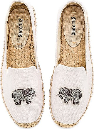Elephant Beaded Smoking Slipper in White. - size 6 (also in 10,6.5,7,7.5,8,8.5,9,9.5) Soludos