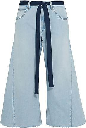 Sonia Rykiel Woman Cropped Belted Mid-rise Wide-leg Jeans Light Denim Size 44 Sonia Rykiel Get To Buy Sale Online Outlet Cheap Online Discount From China Shopping Online How Much Cheap Price IgvJFBx3d8