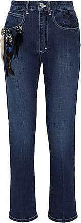 Sonia Rykiel Woman Cropped Belted Mid-rise Wide-leg Jeans Light Denim Size 44 Sonia Rykiel Sale 100% Original lVH8Lg4ZlB