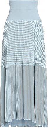 Sonia Rykiel Woman Paneled Ribbed Cotton-blend Maxi Skirt Sky Blue Size XS Sonia Rykiel fdKxjaf