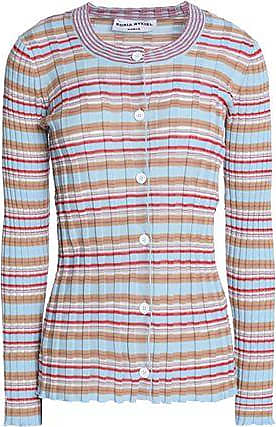Good Selling Online Discount Outlet Locations Sonia Rykiel Woman Striped Ribbed Cotton-blend Sweater Sky Blue Size L Sonia Rykiel Very Cheap Outlet Clearance XQBq9MP6