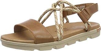 Sorel Torpeda Sandal II, Sandalias de Punta Descubierta para Mujer, Marrón (Grey Sandy Tan, Fawn 251), 36 EU