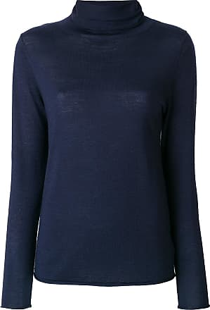 fitted roll-neck top - Blau Sottomettimi
