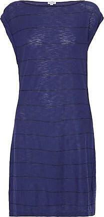 Splendid Woman Striped Slub Cotton And Modal-blend Jersey Mini Dress Navy Size XL Splendid ZBdyyyf