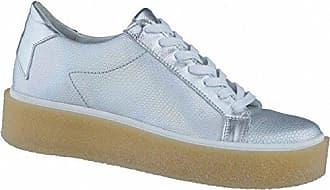 modische Damen Leder Plateau Sneakers blush magnesio, metallisierendes Leder, Lederdecksohle, 1238115/39 SPM