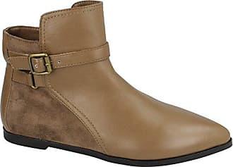 Spot on Damen Ankle Boots (38 EU) (Schwarz (Leder-Optik)) LsXOBfNzod