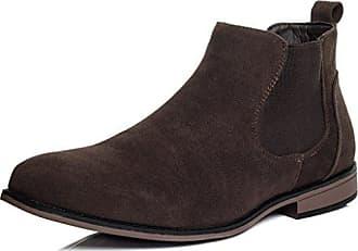 Reissverschluss Flache Chelsea Desert Boots Stiefeletten Synthetik Wildleder Gr 45 vb3zQCI