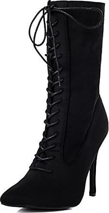 Reissverschluss High Heel Stilettoabsatz Stiefeletten Schuhe Stretch Gr 38 RfCHxxP