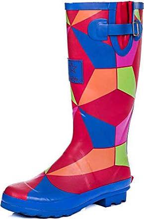 Spylovebuy Verstellbare Schnalle Flache Fest Gummistiefel Regenstiefel Gummi Gr 39 f3LJou