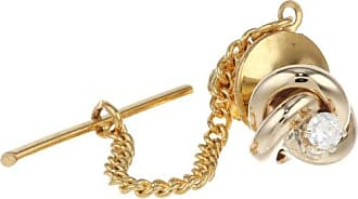 Stacy Adams Mens Knot Tie Tac With Crystal, Gold, One Size