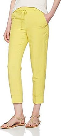 Pantalon Femme, Jaune (Yellow 528), FR : 38/L32 (Taille Fabricant : 36/32) (Brand size: 36/32)Lerros