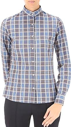 Shirt for Women On Sale, Blue, Cotton, 2017, 10 12 Stella Jean
