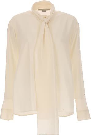 Shirt for Women On Sale, White, Silk, 2017, 22 24 Stella McCartney