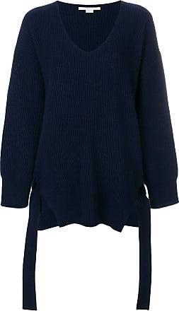 Oversized Stretch Knit-trimmed Wool Sweater - Midnight blue Stella McCartney Clearance Enjoy 56FbRRZEj