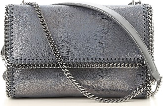 Stella McCartney Shoulder Bag for Women On Sale, Anthracite Grey, Leather, 2017, one size