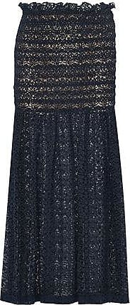 Stella Mccartney Woman One-shoulder Belted Cotton-poplin Navy Size 36 Stella McCartney 37uxyW