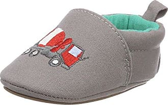 NangaPünktchen - Patucos y Zapatillas de Estar Por casa Bebé-Niños, Color Rojo, Talla 22