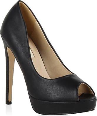 Damen Plateaupumps mit Stiletto Absatz Schuhe 128779 Gold 38 Flandell rxd3nPLdA