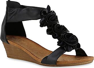 Sandalen Damen Keil Sommer Kühl Stiefel Mode Open Toe Niet, Khaki, 37 LEIT