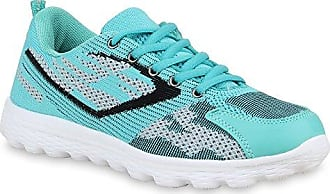 Damen Lauf Sneaker Low Runners Lack Sneakers Neon Sport Pailletten Schnürer Sport Freizeit Schuhe 66445 Grün Türkis 38 Flandell Stiefelparadies WXyEoTkL