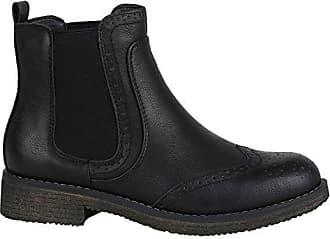 Damen Schuhe Modische Chelsea Boots Metallic Lederimitat Stiefeletten 144354 Schwarz Camiri 39 Flandell Stiefelparadies eZX9ofZr