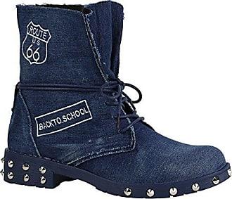 Damen Schuhe Schnürstiefeletten Leicht Gefüttert Stiefeletten Profilsohle 156854 Dunkelblau Nieten Denim 36 Flandell Stiefelparadies 0VCD8A8G