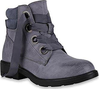 Damen Schuhe Stiefeletten Leicht Gefütterte Outdoor Worker Boots 146022 Blau Ösen 38 Flandell Stiefelparadies GH0bMu0os
