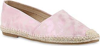 Damen Espadrilles Metallic Slipper Bast Profilsohle Flats Schuhe 155743 Dunkelblau Denim 36 Flandell Stiefelparadies hKNNY