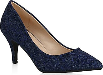 Damen Pumps Schuhe Elegant High Heels Bequeme Blau 37 d9u8YsnNmL