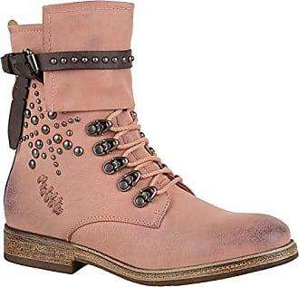 Damen Schuhe Stiefeletten Schnürstiefeletten Leicht Gefütterte Stiefel 147467 Hellbraun Brooklyn Strass 39 Flandell RWBf8s