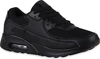 Flache Damen Lauf Profilsohle Bequeme Sport Schuhe 111895 Schwarz Amares 37 Flandell Stiefelparadies cIJSz4c