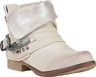 Damen Biker Boots Metallic Details Leder-Optik Stiefeletten Schuhe 148025 Braun Metallic 36 Flandell ocXO3Sj3dY