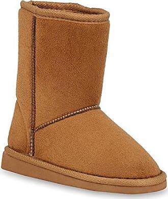 Kinder Mädchen Schuhe Stiefeletten Schlupfstiefel Warm Gefüttert Leder 149345 Hellbraun Carlet 33 Flandell 82nIw